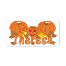 Halloween Pumpkin Theresa Aluminum License Plate