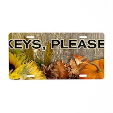 Autumn Keys Please Aluminum License Plate