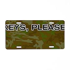 Camouflage Keys Please Aluminum License Plate