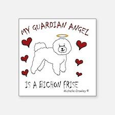 "bichon frise Square Sticker 3"" x 3"""