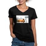 Porsha Dreams Women's V-Neck Dark T-Shirt