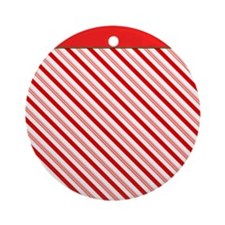 Candy Cane Round Ornament