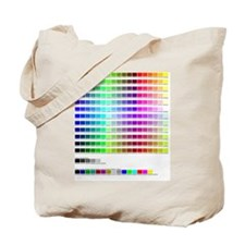 HTML Color Codes Tote Bag