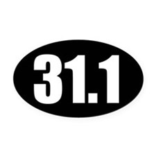 31.1 50k oval black sticker decal Oval Car Magnet
