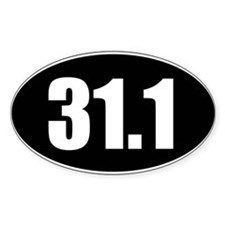 31.1 50k oval black sticker decal Decal