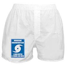 Hurricane Evacuation Plan for babies Boxer Shorts