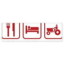 eatSleepFarm1E Bumper Sticker