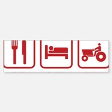 eatSleepFarm1E Sticker (Bumper)