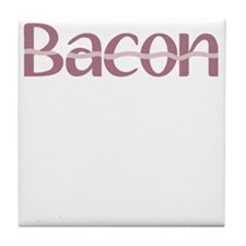 Bacon is the new Black Tile Coaster