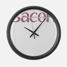 Bacon is the new Black Large Wall Clock