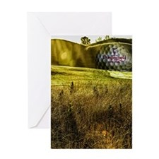 Golf ball on the green Greeting Card