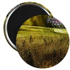 Golf ball on the green Magnet