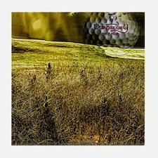 Golf ball on the green Tile Coaster