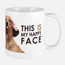 Happy Face Dachshund Small Small Mug