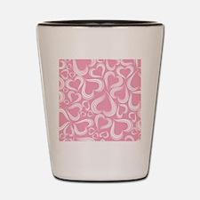 Pink Hearts Pattern Shot Glass