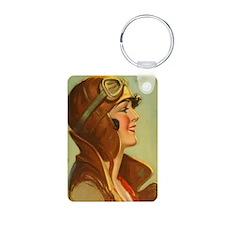 Lady Pilot Flygirl Keychains
