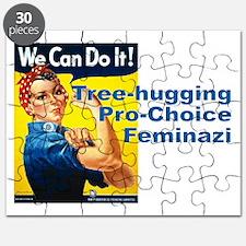 Tree Hugging Pro Choice Feminazi Puzzle