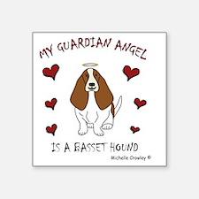 """basset hound Square Sticker 3"""" x 3"""""""