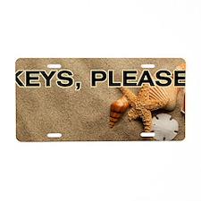 Beach Keys Please Aluminum License Plate