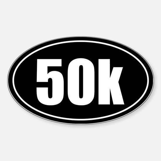 50k 31.1 black oval sticker decal Sticker (Oval)