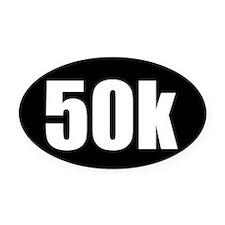 50k 31.1 black oval sticker decal Oval Car Magnet