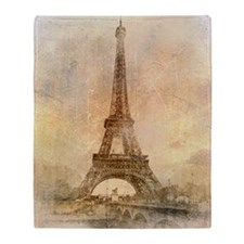 Eiffel Tower Throw Blanket