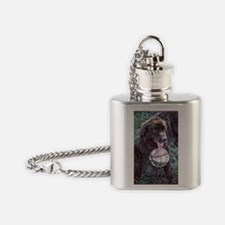 Brown New Foundland Flask Necklace