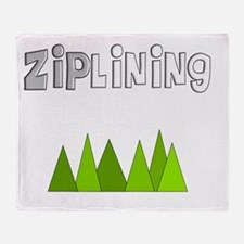 ziplines darks Throw Blanket