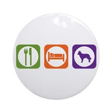 Eat Sleep Mudi Ornament (Round)