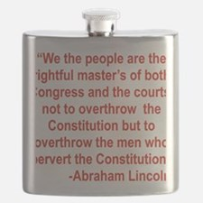 WE THE PEOPLE ARE THE RIGHTFUL MASTERS... Flask