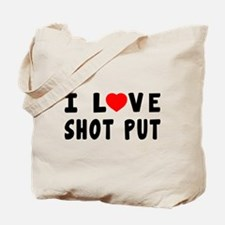 I Love Shot Put Tote Bag
