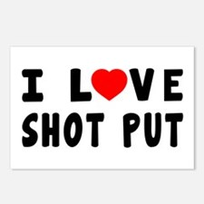 I Love Shot Put Postcards (Package of 8)