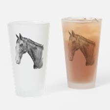 Black and White Horse Print Drinking Glass