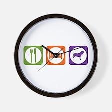 Eat Sleep Neo Wall Clock