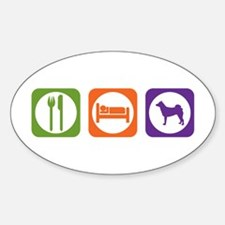 Eat Sleep Norrbottenspets Oval Decal