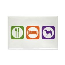 Eat Sleep Norrbottenspets Rectangle Magnet