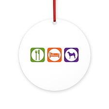 Eat Sleep Norrbottenspets Ornament (Round)