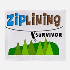 ziplines survivor 4 Throw Blanket