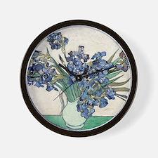 Van Gogh Irises Wall Clock