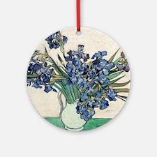 Van Gogh Irises Round Ornament