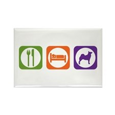 Eat Sleep Buhund Rectangle Magnet