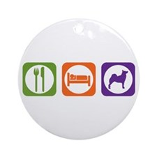 Eat Sleep Buhund Ornament (Round)