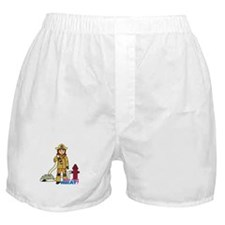 Firefighter Woman Boxer Shorts