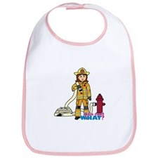 Firefighter Woman Bib