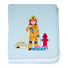 Firefighter Woman baby blanket