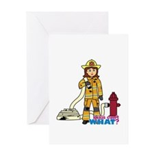 Firefighter Woman Greeting Card
