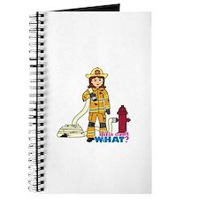 Firefighter Woman Journal