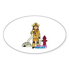 Firefighter Woman Decal