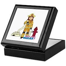 Firefighter Woman Keepsake Box