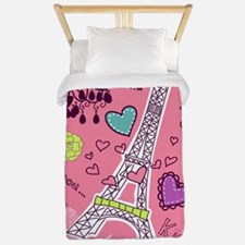 Love in Paris Twin Duvet